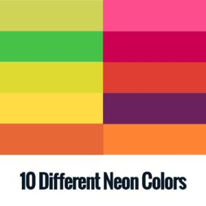 Isacord Polyester Embroidery Thread 10 Neon colors